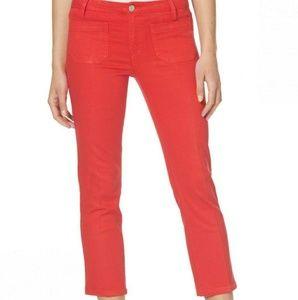 SANCTUARY Marianne Crop Coral Jeans Pants Sz 26
